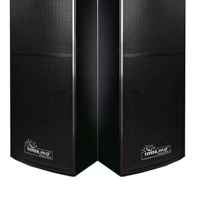 IDOLpro IPS-DELUXE I 1500W Professional Premium Black High Gloss Fininhed Floor Standing Speakers