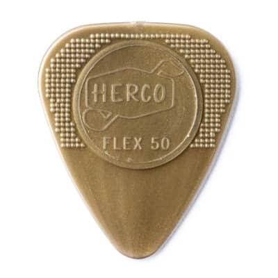 Dunlop HE210 Herco Nylon Flex 50 Medium Guitar Picks (100-Pack)
