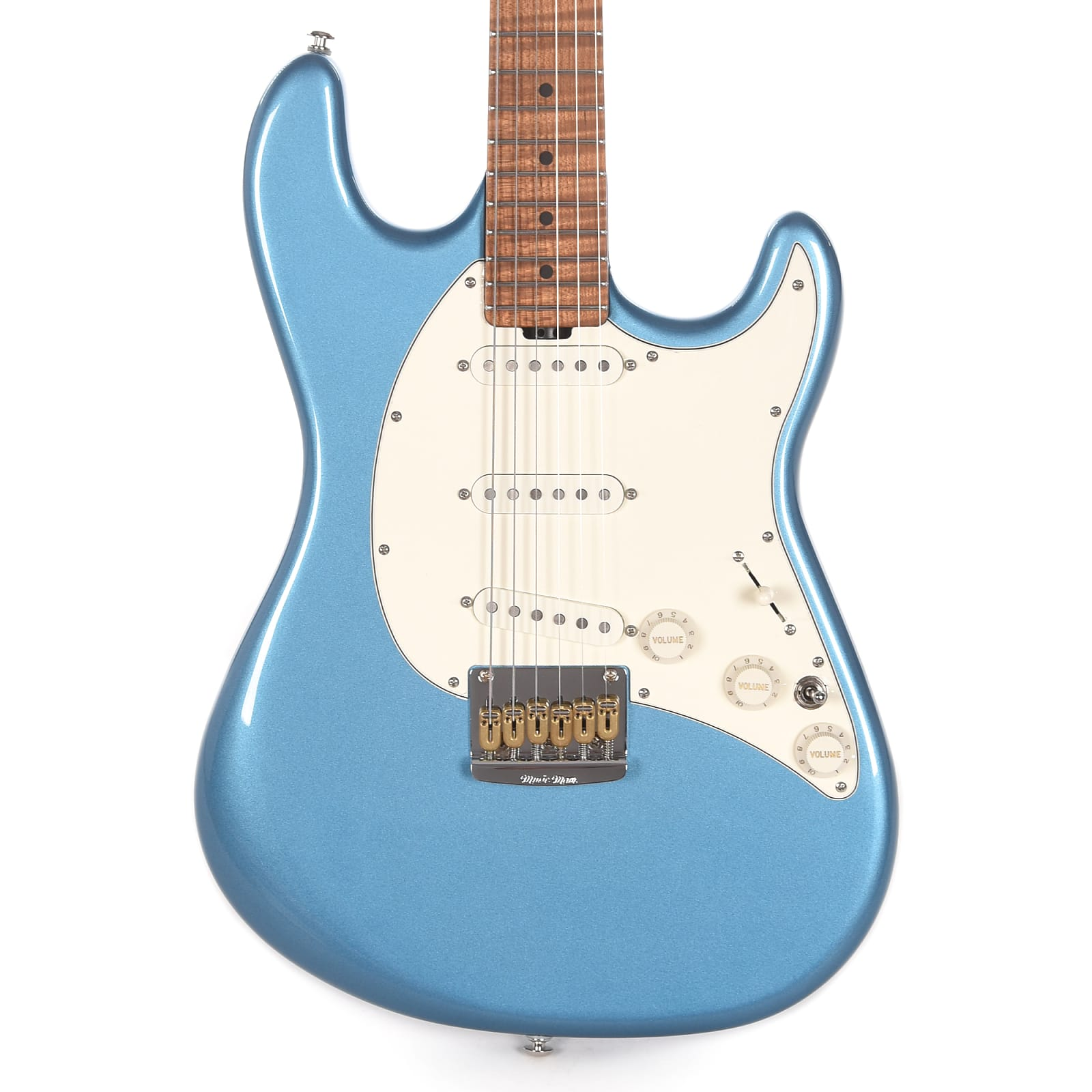 Music Man Signature Hunter Hayes Cutlass Guitar Lake Tahoe Blue w/Roasted Figured Maple Neck