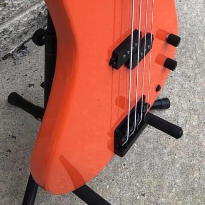 GAMMA Custom Bass Guitar PF21-02, Fretless Alpha Model, Navajo Orange for sale