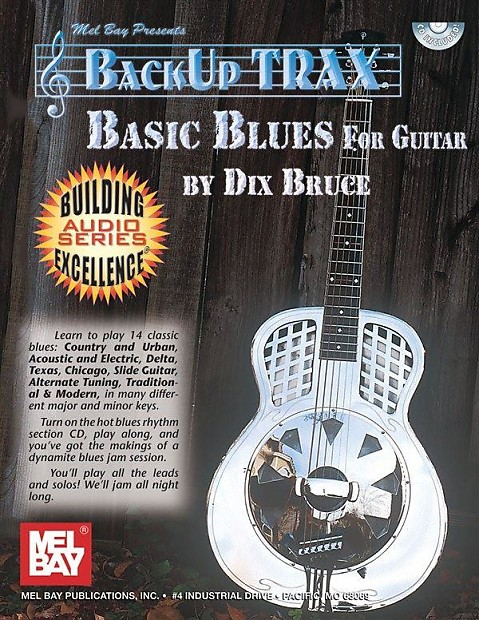 Dix Bruce: Backup Trax Basic Blues Guitar (Book and CD)
