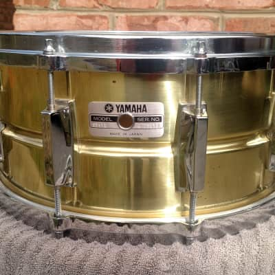 "Yamaha SD-416 14x6.5"" Brass Snare Drum with Die Cast Hoops, Extended Cable Snares"