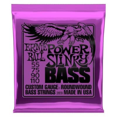 Ernie Ball 2831 Power Slinky Bass Custom Guage Roundwound (.055-.110)
