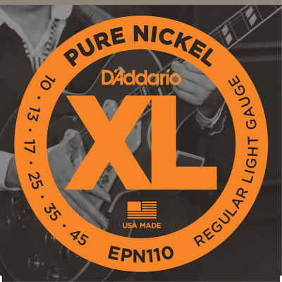 D'Addario EPN110 Pure Nickel Regular Light Guitar Strings