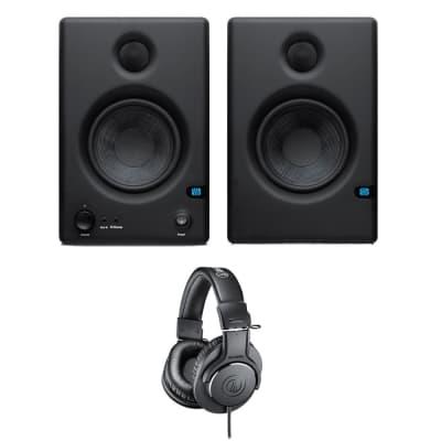 "PreSonus Eris E4.5 Hi-Definition 2-Way 4.5"" Nearfield Monitors (Pair) + Audio-Technica ATH-M20x Monitor Headphones"