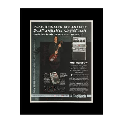 2004 Dan Donegan for Digitech Pedals Original Magazine Ad Double Matted for 11 x 14 Frame