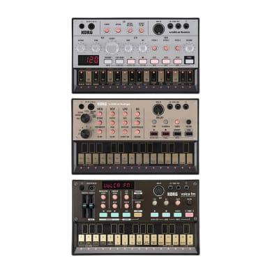 Korg Volca Ultimate Analog Machine Bundle - Bass, FM and Keys + free leads & phones,