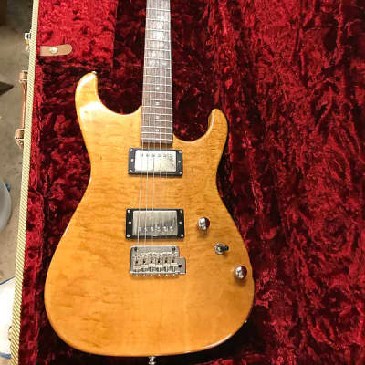 Carruthers S6 Super strat Natural Curly maple and Birdseye maple neck for sale