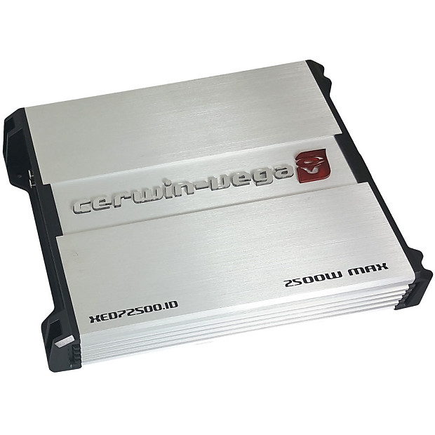 Cerwin Vega XED72500 1D 2500W Max (500W RMS) XED Series Class-A/B Monoblock  1 Ohm Stable Amplifier with Bass Knob Included