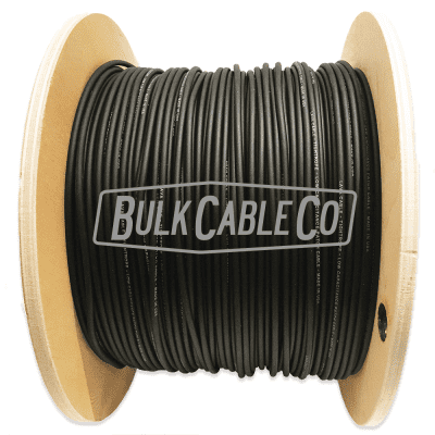 Lava Tightrope Black Pedal Board Cable - Sold In 100 Foot Lengths - 100' Bulk Solder-Less FX Cable