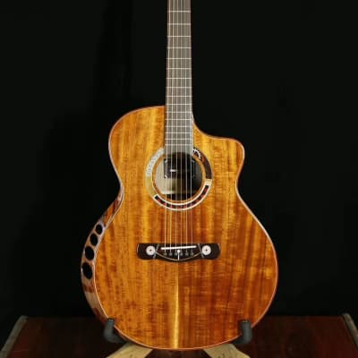 Merida Extrema venus cutaway solid koa Acoustic guitar (Optional pickups can be added) for sale