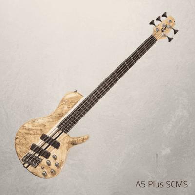 Cort Artisan Series A5PLUS 5-String Multi Scale Bass, Open Pore Natural, A5PLUSSCMSOPN, New, w/ Case