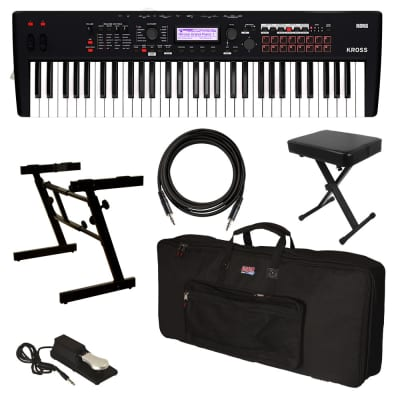 Korg Kross 2 61 Music Workstation - Matte Black STAGE RIG