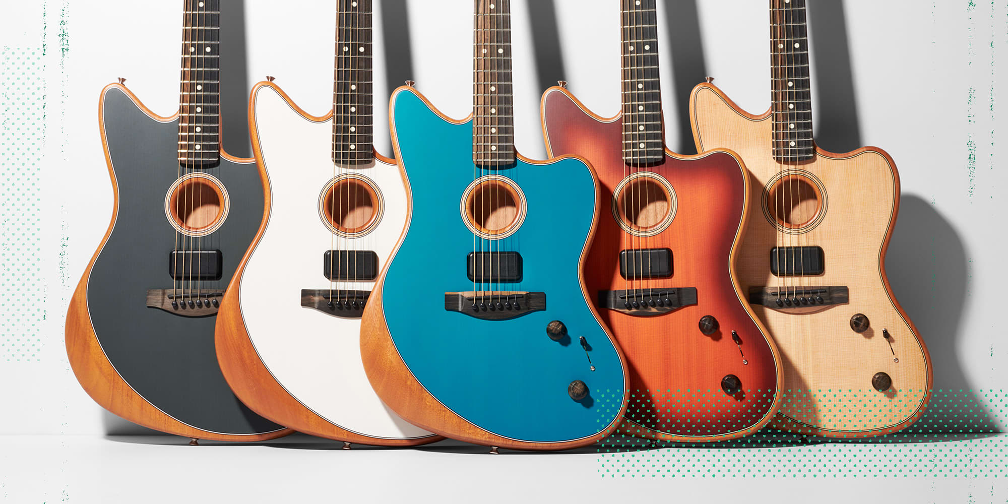 The Fender American Acoustasonic Jazzmaster in every color