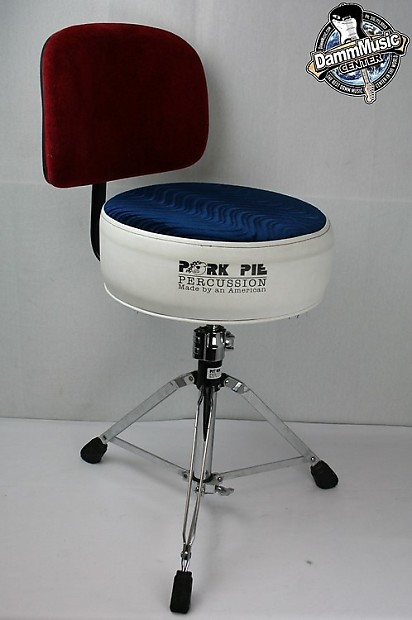 pork pie round throne with backrest red white blue reverb. Black Bedroom Furniture Sets. Home Design Ideas