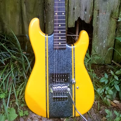 Zolla Strat San Dimas style shredder 1988 Yellow for sale