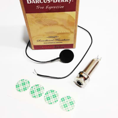 Barcus-Berry DISQIS Soundboard Acoustic Guitar Pickup w/ Internal Mount Jack for sale