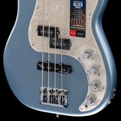 Fender American Elite Precision Bass Satin Ice Blue Metallic Maple (788) for sale