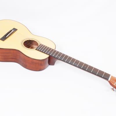 Martin Custom Size 5 Mini Terz Parlor Flamed Tasmanian Blackwood / Engleman #06690 @ LA Guitar Sales