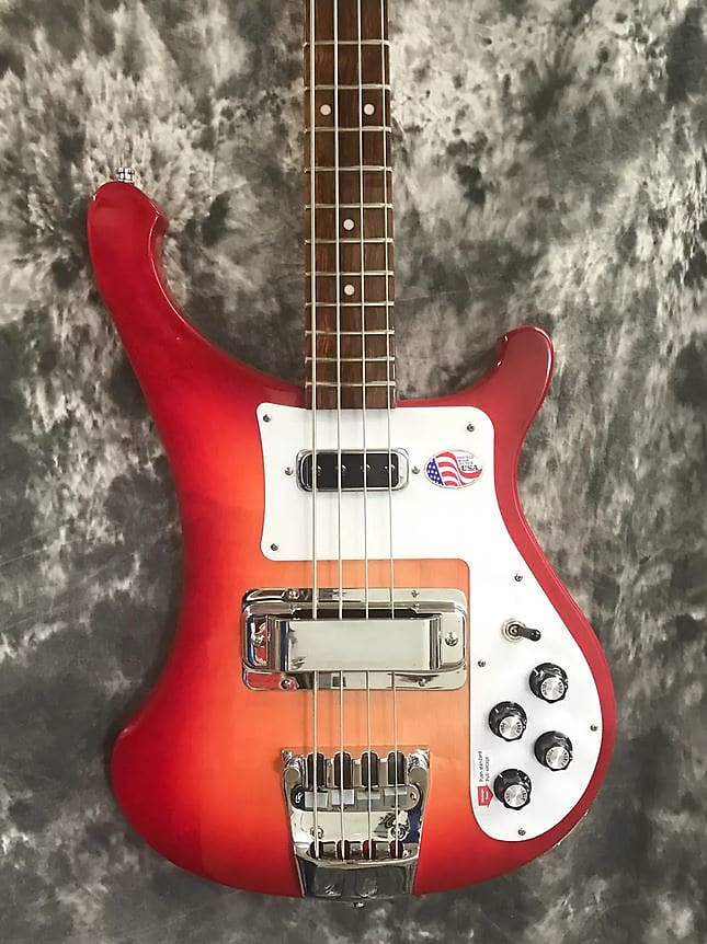 Rickenbacker Model 4003S (No Binding) Solid Electric Bass - Fire Glo 2017