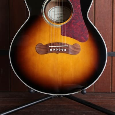 Epiphone EJ-200 Coupe Cutaway Acoustic-Electric Guitar Vintage Sunburst for sale