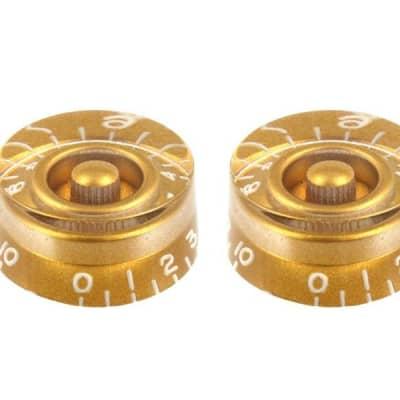 Vintage Style Speed Knobs Set of 2 Gold