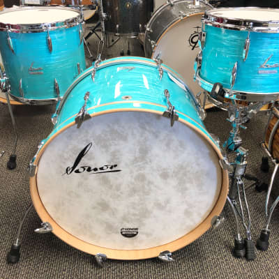 "Sonor Vintage California Blue 3 Piece Shell Pack 12"", 14"", 22"""
