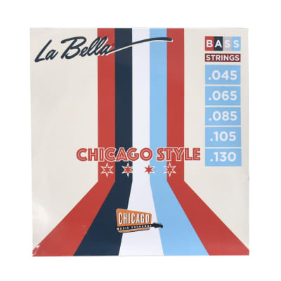 "La Bella ""Chicago Style"" Pure Nickel Bass Strings 5-String 45-130"