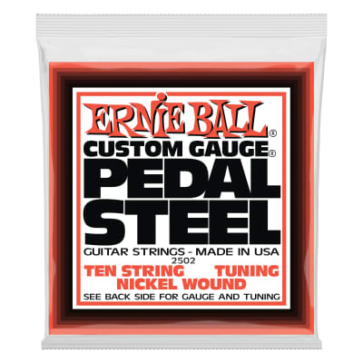 Ernie Ball Pedal Steel 10-String E9 Tuning Nickel Wound Electric Guitar Strings - 13-38 Gauge