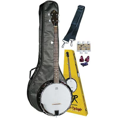 J. Reynolds JRBANPK 5-String Banjo Starter Pack w/Gig Bag, Strap, Pitchpipe, and Picks for sale