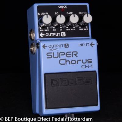 Boss CH-1 Super Chorus 1991 Blue Label s/n HC54080 Analog version with MN3007 BBD