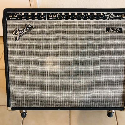 2015 Fender Custom Super 15 Twin Reverb Amp   Black & Silver