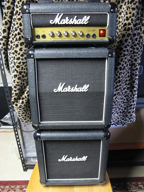 marshall lead 12 mini stack ca 1989 90 black xlnt cond reverb. Black Bedroom Furniture Sets. Home Design Ideas