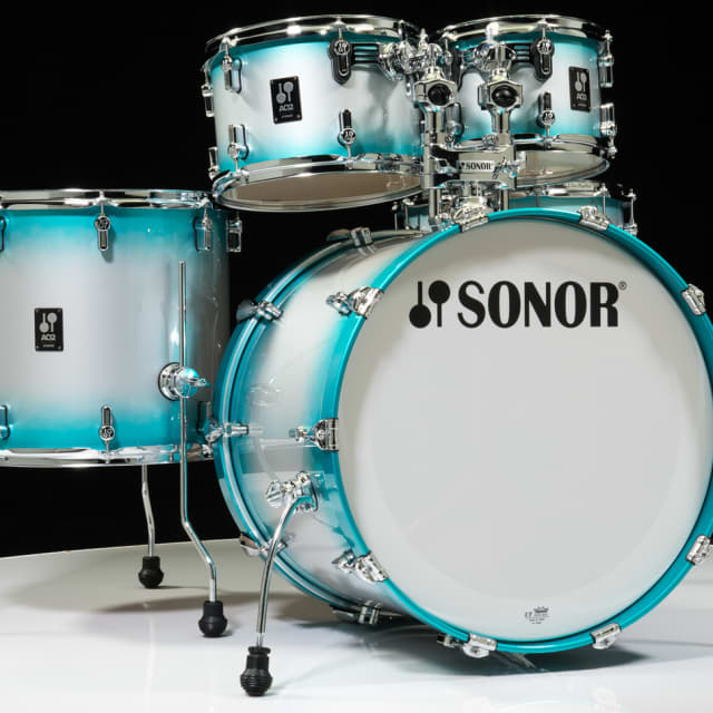 Sonor AQ2 Maple Stage 5pc Shell Pack  - Aqua Silver Burst Lacquer image