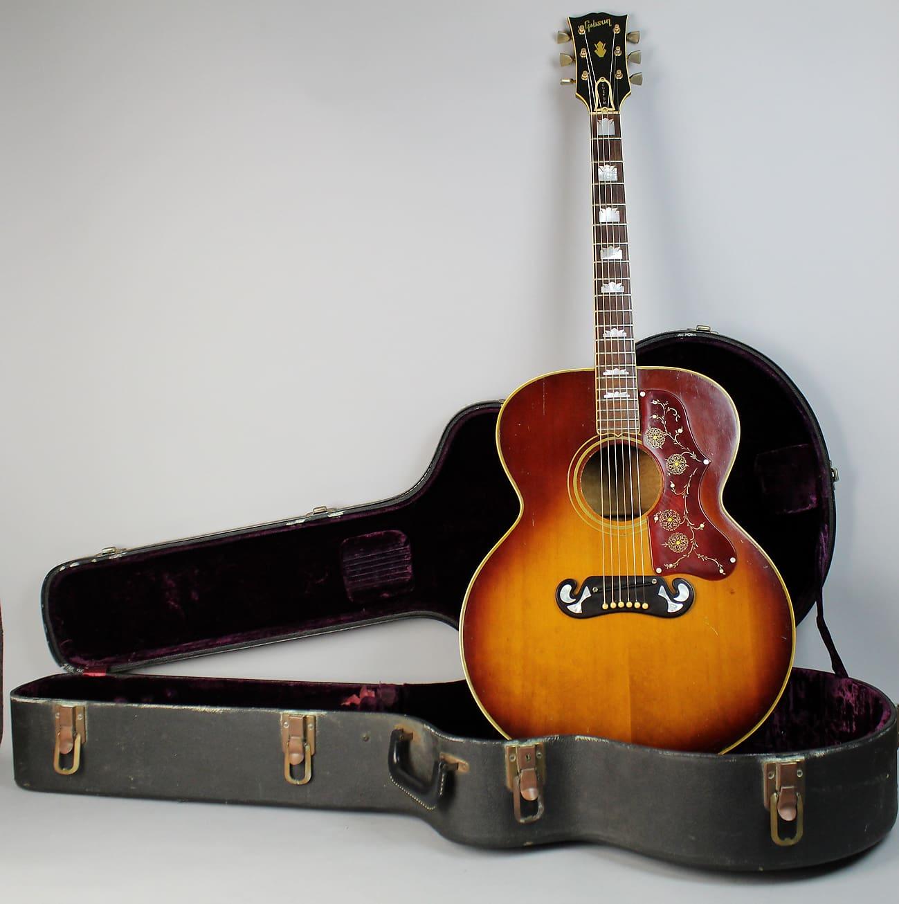 1968 Gibson J 200 Original Vintage Jumbo Sunburst Acoustic Guitar W OHSC