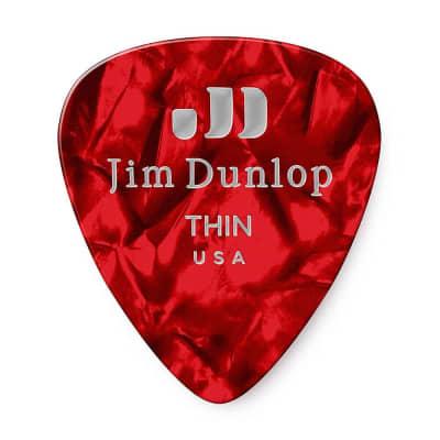 Dunlop 483R09TH Celluloid Standard Classics Thin Guitar Picks (72-Pack)