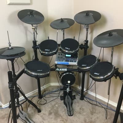 Alesis DM10 Studio Kit Electronic Drum Set (w/ Alesis Pro X Hi-Hat & Upgraded Mesh Heads)