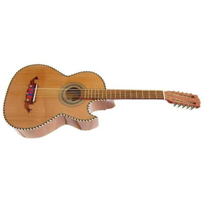 Paracho Elite Laredo 10-String Traditional Bajo Quinto Guitar, Natural for sale