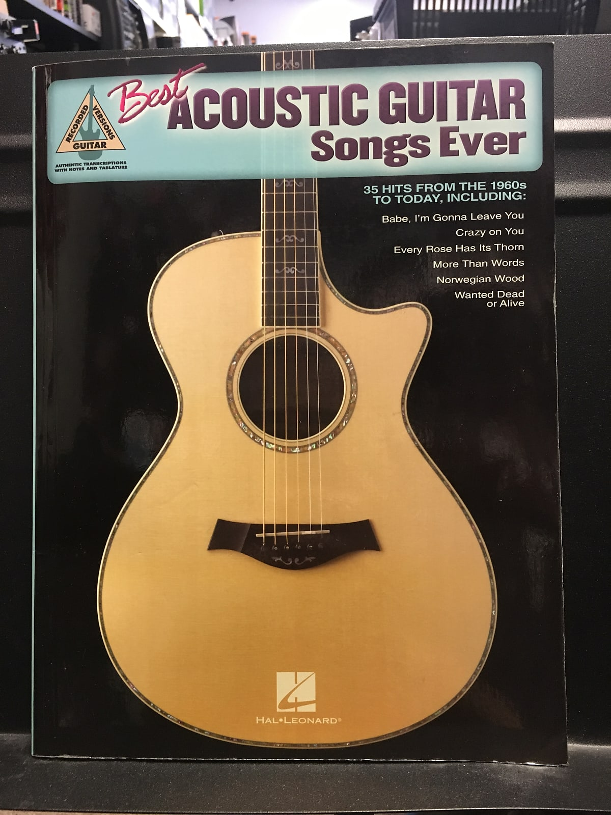Hal Leonard Best Acoustic Songs Ever Guitar Recorded Versions