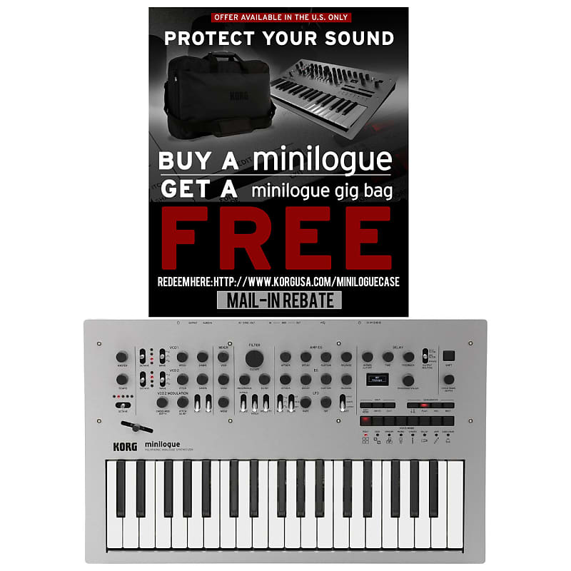 Korg Minilogue Polyphonic Analog Synth with Presets - Silver | Reverb