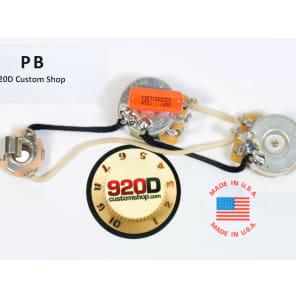 920D Custom Shop PB P-Bass Wiring Harness w/ Knurled Knobs