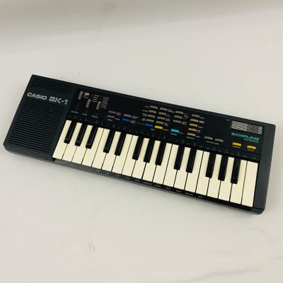 Casio SK-1 Sampling Keyboard Synthesizer, Vintage 1980's