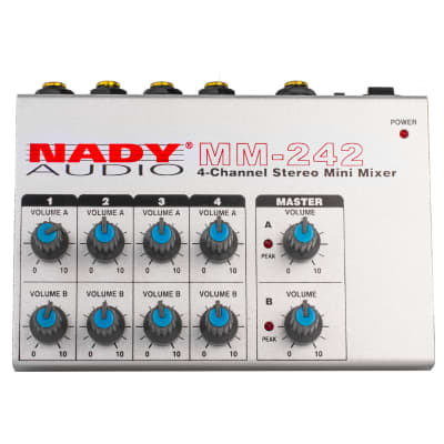 Nady MM-242 8-Channel / 4-Channel Stereo Mini Mixer