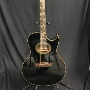 Ibanez EP10-BP Euphoria Steve Vai Signature Solid Spuce/Mahogany Acoustic/Electric Guitar Pearl Black
