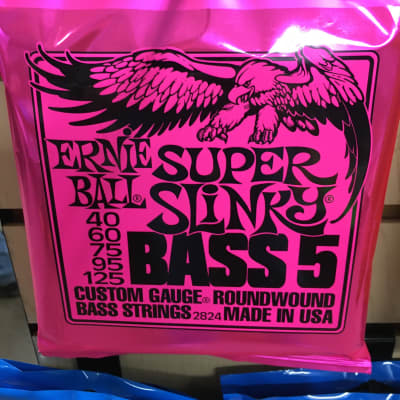 Ernie Ball 2824 Super Slinky 5-String Nickel Wound Electric Bass Strings