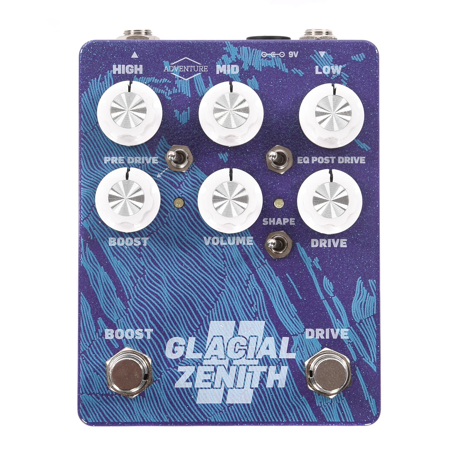 Adventure Audio Glacial Zenith V2 Purple Sparkle CME Exclusive Overdrive 3 Band EQ Boost
