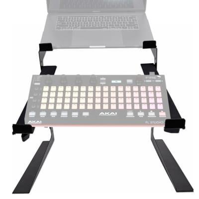 Rockville Dual Shelf Laptop+Controller Stand for Akai Professional Fire Grid