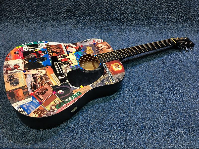 Decoupage Johnson LG,610,N Dreadnought Acoustic Guitar