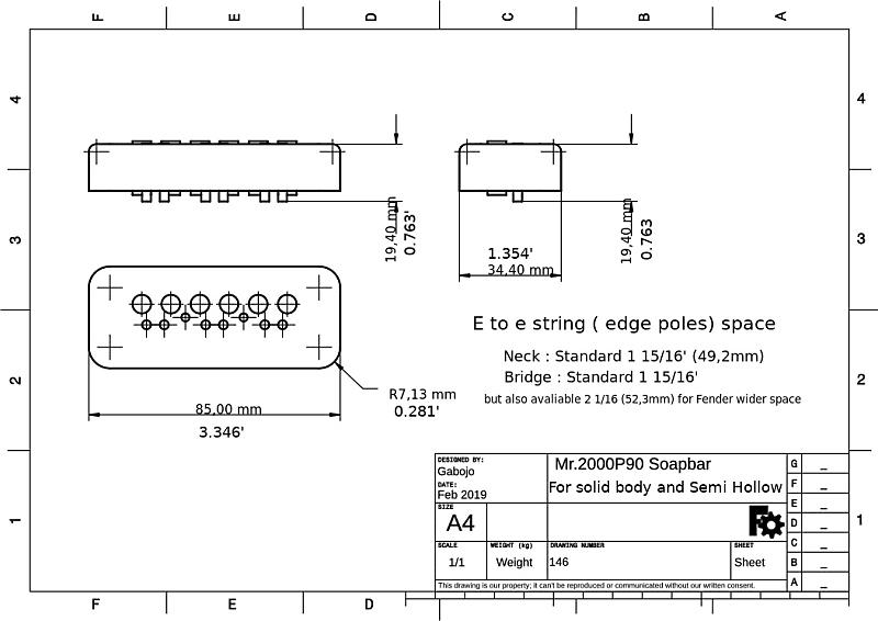 Neck Mr.2000P single coil