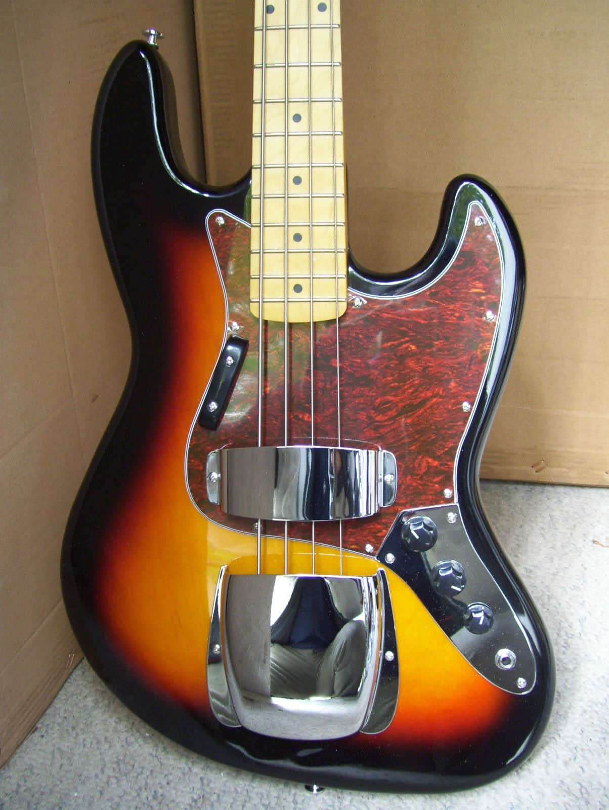 bass guitar with metal pickup guard new gl music store reverb. Black Bedroom Furniture Sets. Home Design Ideas